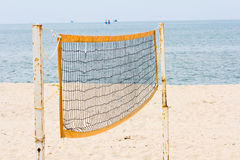 Beach volley net Stock Photo