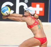 Beach Volley player Jennifer Kessy Stock Images