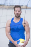 Beach volley player portrait Royalty Free Stock Images