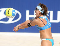 Beach Volley player Shelda Bede Royalty Free Stock Photography