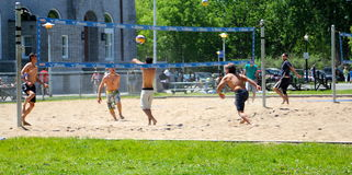 Beach volley players Stock Image