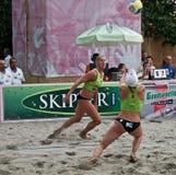 Beach volley team Stock Photos