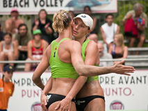 Beach Volley Team Stock Photography