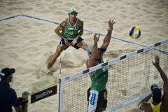 Beach volley world cup final male Stock Images