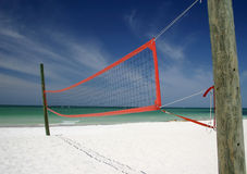Beach Volleyball. Net on Gulf of Mexico Stock Photography