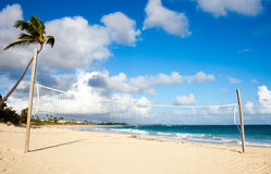Beach Volleyball. Field on a beautiful tropical beach stock photos
