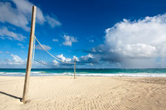 Beach Volleyball. Field on a beautiful tropical beach royalty free stock images