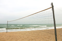 Beach volleyball. At the beach in Thailand, windy and cloudy day Royalty Free Stock Photos