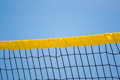 Beach volleyball. With the blue sky royalty free stock photos