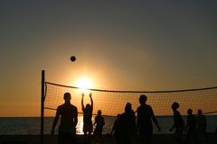 Beach volleyball stock photography