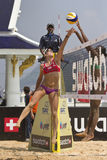 Beach Volleyball. Royalty Free Stock Photos