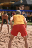 Beach volleyball #6. Beach volleyball players in action Stock Photos