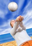 Beach volleyball Stock Image