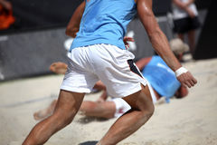 Beach Volleyball. Two Player in action by a beach Volleyball match Stock Images