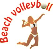 Beach volleyball. Vector illustration of Beach volleyball Royalty Free Stock Photos