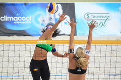 Beach volleyball - Agatha Royalty Free Stock Photography