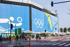 Beach volleyball arena at Rio2016 Stock Photography