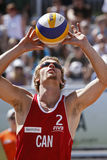 Beach volleyball canada pass Royalty Free Stock Photos