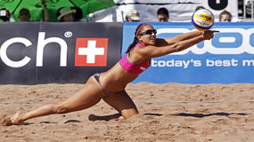 Beach volleyball canada woman Royalty Free Stock Photo