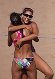 Beach volleyball canada women Royalty Free Stock Image