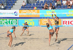 Beach Volleyball Championship Royalty Free Stock Photos