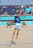 Beach Volleyball Championship Stock Photos