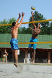 Beach volleyball competition Royalty Free Stock Photo