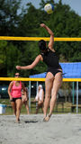 Beach volleyball competition Stock Photo