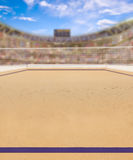 Beach Volleyball Court and Copy Space royalty free stock image