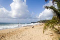Beach volleyball court corn island nicaragua Stock Photo