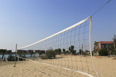 Beach volleyball court Royalty Free Stock Image
