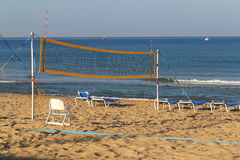 Beach volleyball. Volleyball court on a sandy beach Stock Image