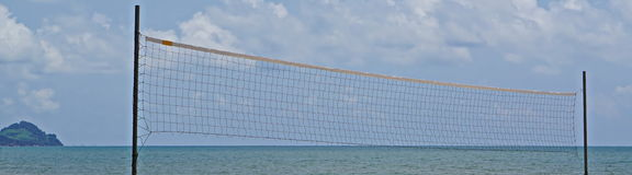 Beach a volleyball Royalty Free Stock Photography