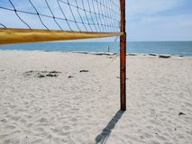Beach volleyball court stock image