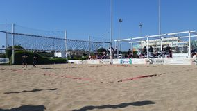 Beach volleyball court Royalty Free Stock Photo
