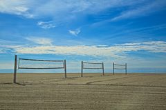 Beach volleyball courts Stock Image