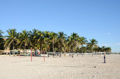 Beach Volleyball Courts in Miami Royalty Free Stock Images