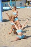 Beach Volleyball Dancers. At the finals of the Dutch championship beach volleybal in Scheveningen on August 30, 2008 Stock Photos