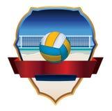 Beach Volleyball Emblem Illustration Stock Photo