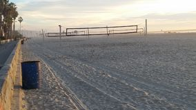 Beach Volleyball. An empty beach during winter royalty free stock photography