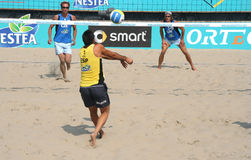 Beach Volleyball European Championship Royalty Free Stock Photo