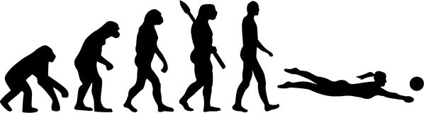 Beach Volleyball Evolution. With silhouettes Stock Photo