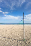 Beach-volleyball, field at the Baltic Sea Royalty Free Stock Photos