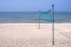 Beach-Volleyball field at a beach Royalty Free Stock Photography