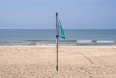 Beach-Volleyball field at a beach Stock Photo