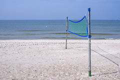 Beach-Volleyball field at a beach Stock Photography