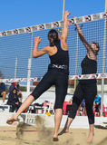Beach volleyball game Royalty Free Stock Image
