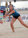Beach volleyball get or set Stock Photo