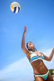 Beach volleyball girl Royalty Free Stock Image