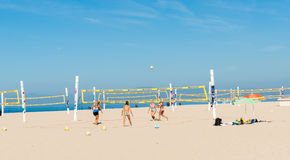 Beach volleyball on Hermosa Beach California Stock Photography